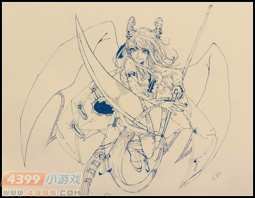 卡布手绘—妖镰王拟人