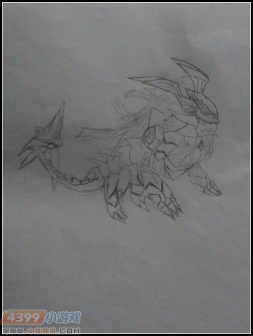 卡布手绘—焚天战狮