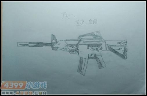 生死狙击玩家手绘—m4a1荣耀来袭