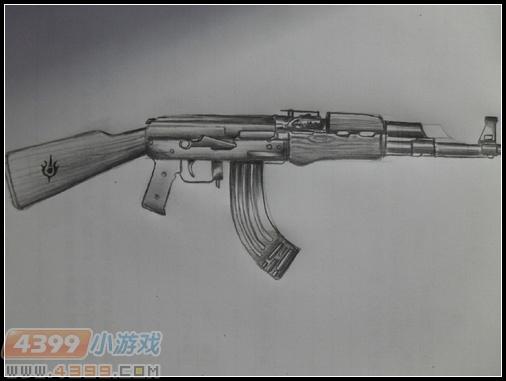 生死狙击玩家手绘-ak47-纪念版