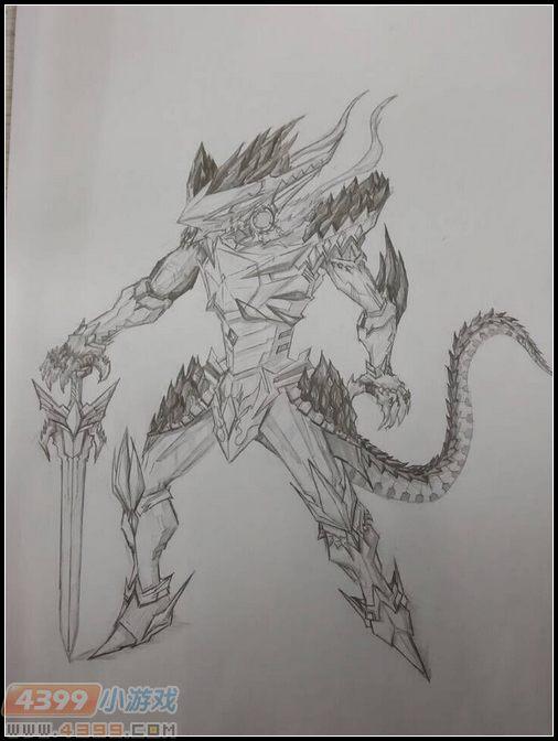 卡布手绘—极域剑王龙