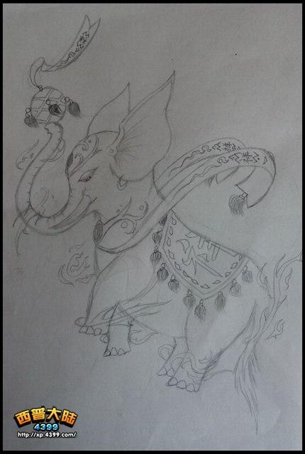 西普大陆手绘 祥兽