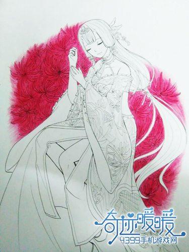 奇迹暖暖手绘教程之鬼姬彼岸花 美美的玩家手绘套装