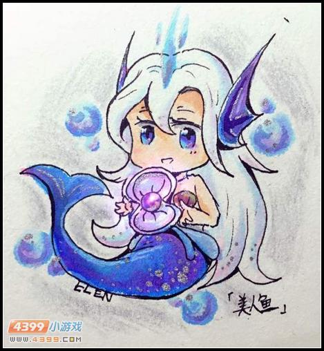 热血精灵派手绘 美人鱼