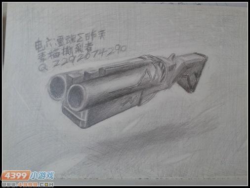 生死狙击玩家手绘-撕裂者素描