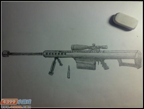 生死狙击玩家手绘-巴雷特m107