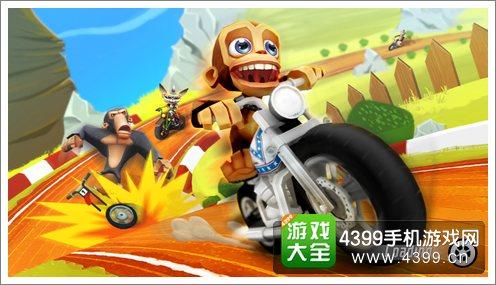 动物世界疯狂摩托赛《超级猩猩飞车》评测