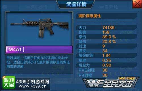 M4A1属性