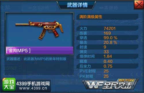 MP5属性