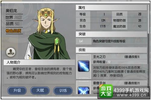 刀剑神域黑衣剑士奥伯龙