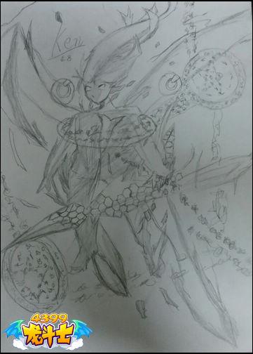 龙斗士绘画作品血符龙皇