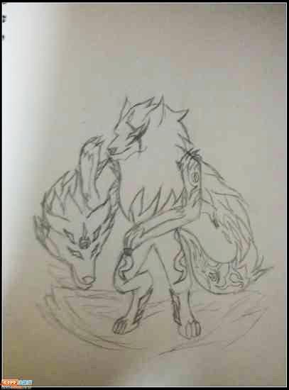 卡布手绘—血煞·狼灵 _4399卡布西游