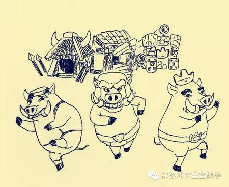 大宝的茅草房子,二宝的木头房子,猪小弟的砖头房子.道具组,我给满分!