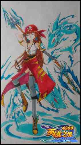 英雄之境绘画作品-圣海女神・海姐
