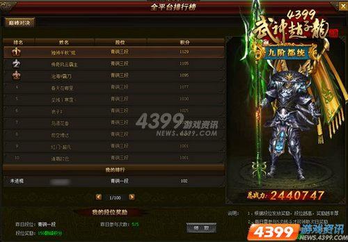 全平台1V1 4399武神赵子龙 英雄汇聚 巅峰对决