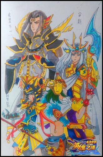 英雄之境绘画作品-自创英雄・四神