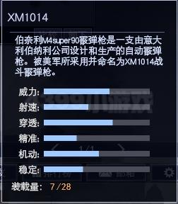 4399战争使命XM1014属性