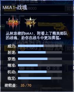 4399战争使命M4A1-战魂属性