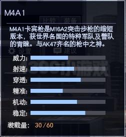 4399战争使命M4A1属性