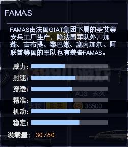 4399战争使命FAMAS属性