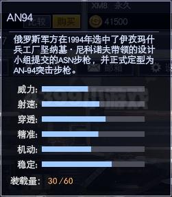 4399战争使命AN94属性