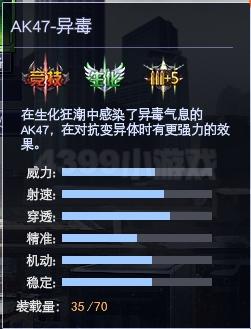 4399战争使命AK47-异毒属性