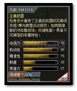 4399创世兵魂XM1014-风影属性