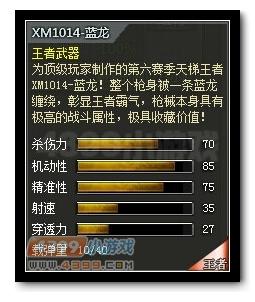 4399创世兵魂XM1014-蓝龙属性