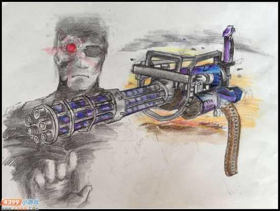 生死狙击玩家手绘-加特林·终结