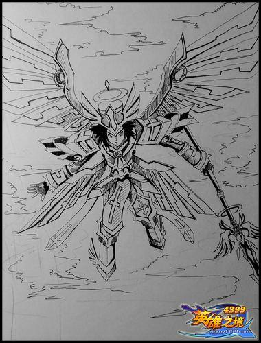 英雄之境绘画作品-觉醒的兰斯特