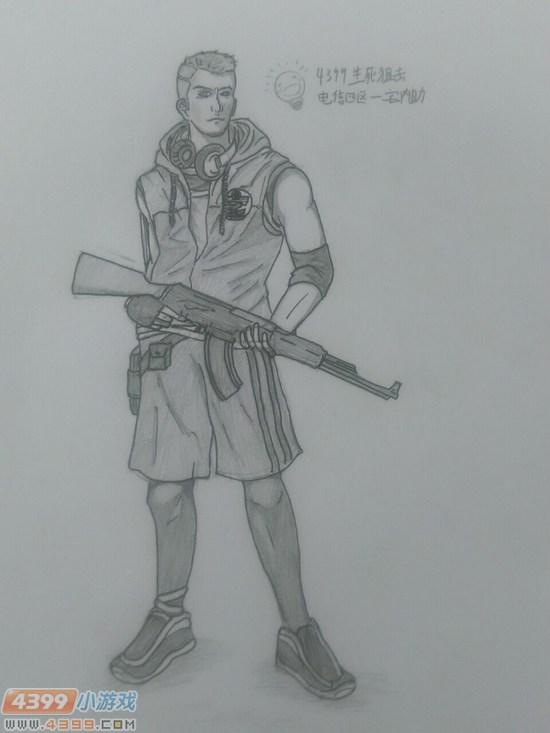 生死狙击玩家手绘—瑞秋女神