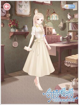 4399手机游戏网 奇迹暖暖 非成就套装 正文  裙子:典雅长裙 米(云禅