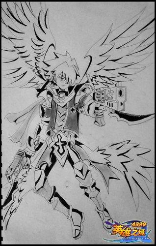 英雄之境绘画作品-迦罗觉醒