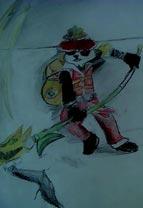 英雄之境绘画作品-减肥后的白奇