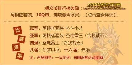 洛克王国第十一届武道会奖励