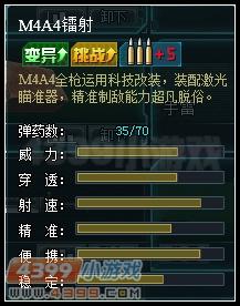 生死狙击M4A4镭射属性