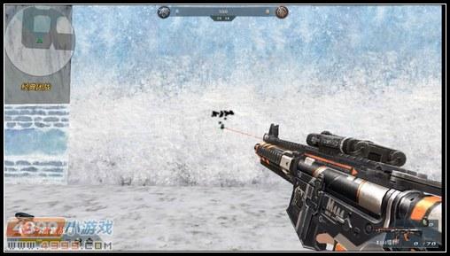 生死狙击M4A4镭射原地近距离扫射