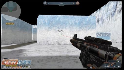 生死狙击M4A4镭射原地中距离扫射