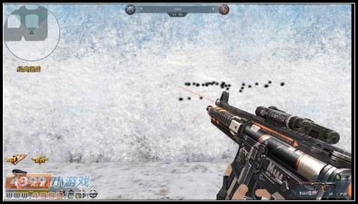 生死狙击M4A4镭射近距离左右移动扫射