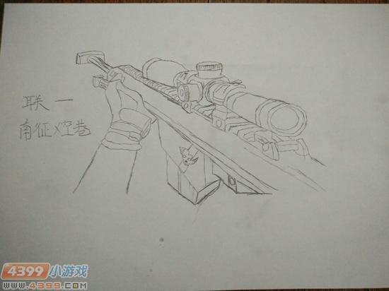 生死狙击玩家手绘-巴雷特第一人称