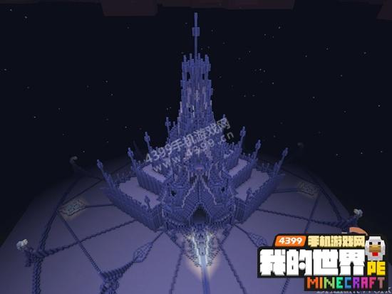 我的世界手机版建筑存档 冰雪城堡地图下载