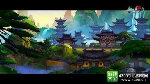 剑网3指尖江湖少林场景