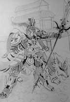英雄之境绘画作品-原创英雄二郎