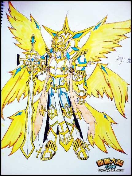 西普大陆手绘 天使长・米迦勒