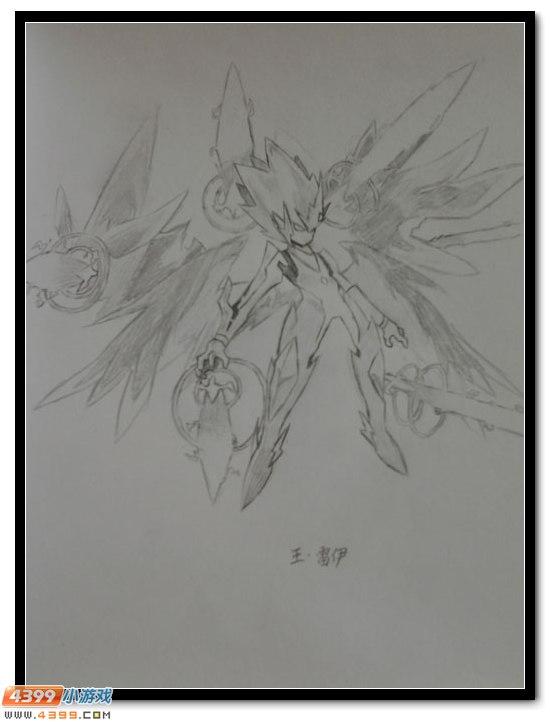 赛尔号手绘 铅笔画王雷伊_4399赛尔号手机版