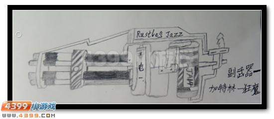 生死狙击玩家手绘-自创武器加特林狂魔