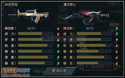 生死狙击烈焰95式与魔龙之对比