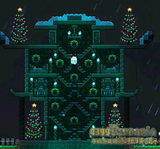 泰拉瑞亚圣诞房屋建筑 圣诞房屋建造图纸