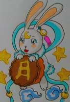 英雄之境绘画作品-原创守护月兔