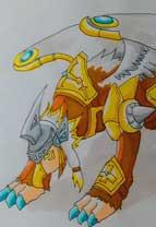 英雄之境绘画作品-原创守护骑士